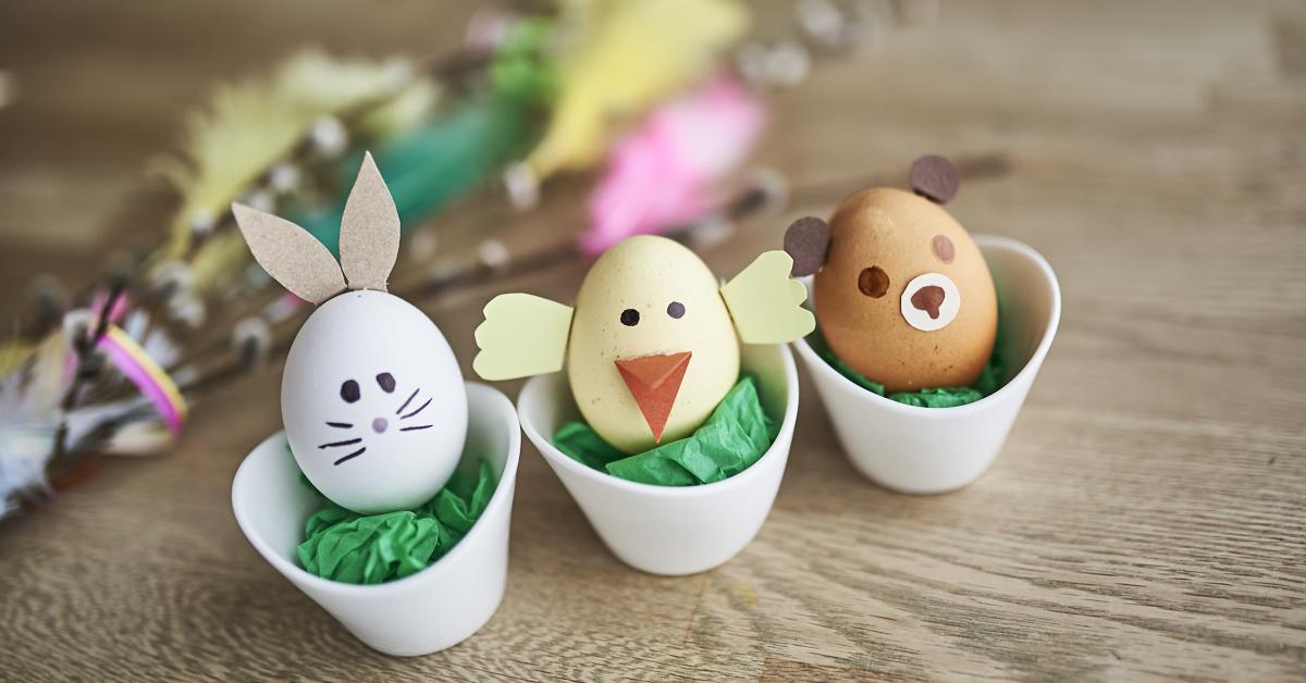 Pääsiäinen kotona - 3 hauskaa tapaa koristella pääsiäismunat
